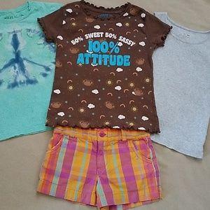 Girls | 4-piece Bundle | Shorts Tank T-shirts